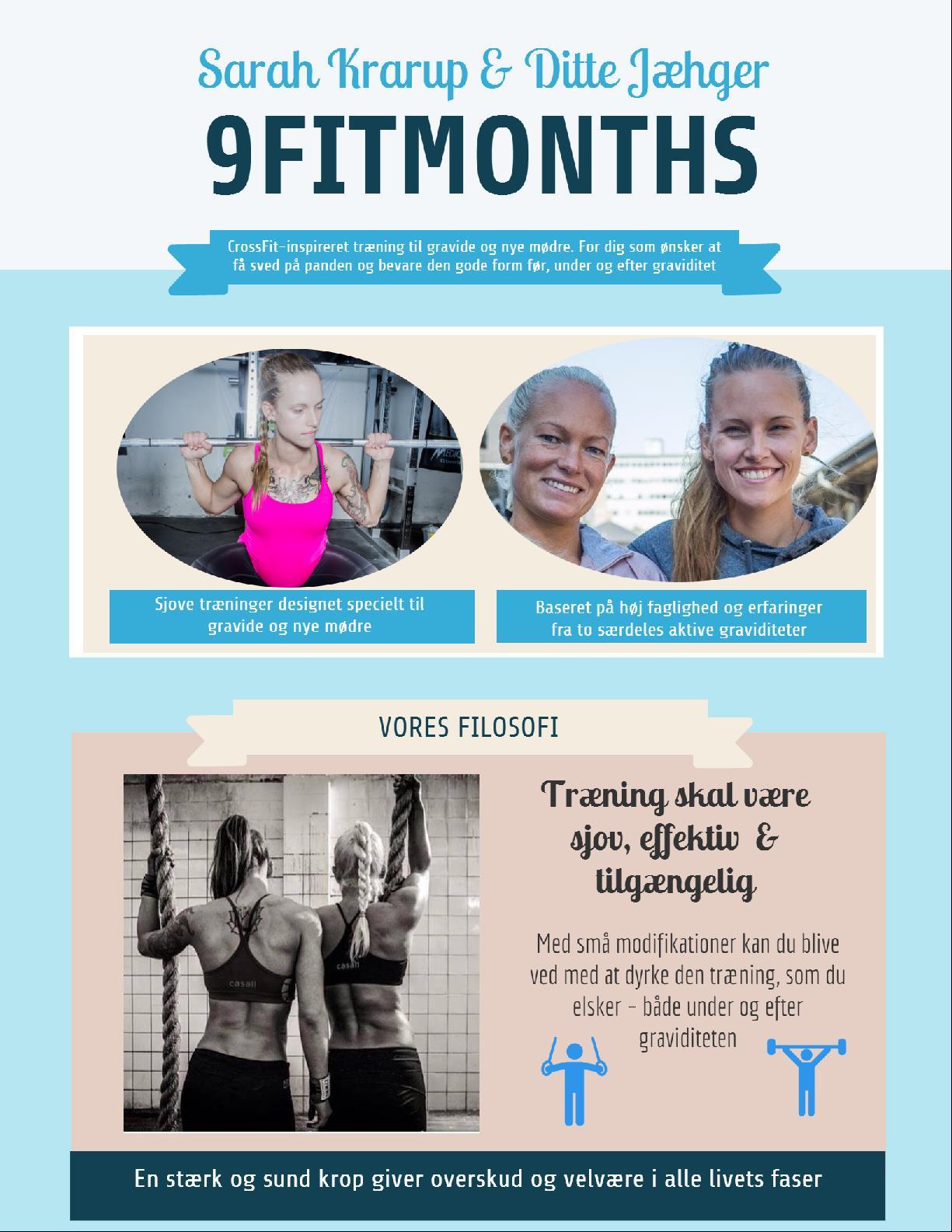 infographic træning og graviditet