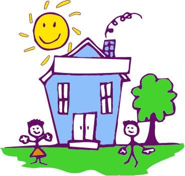 Hus-tegning - En lillemors tanker