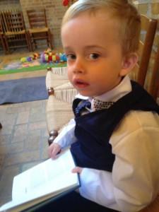Den vilde viking i kirken, han sang med :-)