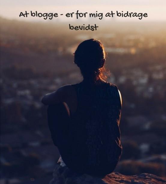 At blogge - er for mig at bidrage bevidst