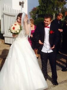 Jonas og jeg på vores bryllupsdag.